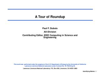 A Tour of Roundup
