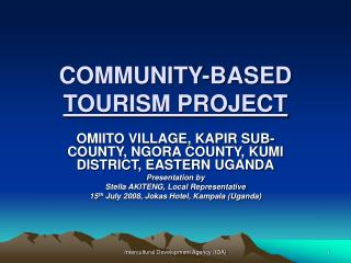 COMMUNITY-BASED  TOURISM PROJECT