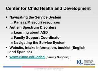 Center for Child Health and Development