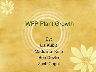 WFP Plant Growth