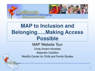 MAP to Inclusion and Belonging…..Making Access Possible