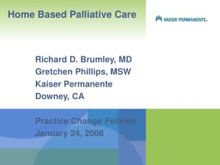 Home Based Palliative Care