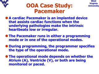OOA Case Study: Pacemaker