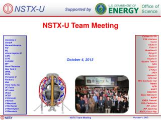 NSTX-U Team Meeting