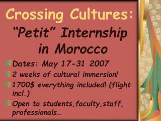 Crossing Cultures: