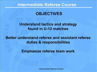 Intermediate Referee Course