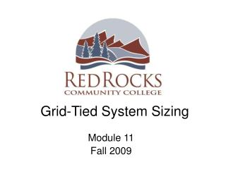 Grid-Tied System Sizing