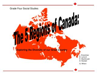 The 5 Regions of Canada: