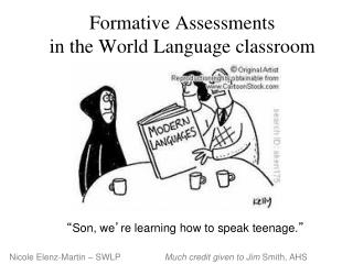 Formative Assessments in the World Language classroom