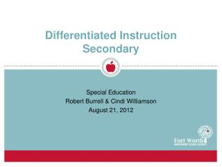 Differentiated Instruction  Secondary