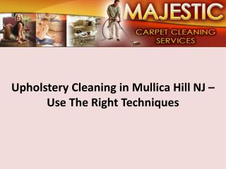 Upholstery Cleaning in Mullica Hill NJ