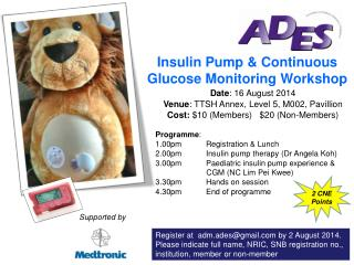 Insulin Pump & Continuous Glucose Monitoring Workshop