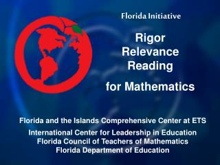 Florida Initiative Rigor Relevance  Reading  for Mathematics