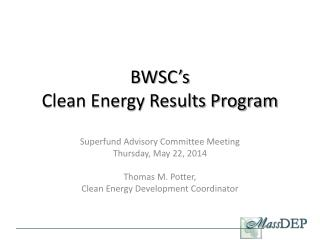 BWSC's  Clean Energy Results Program