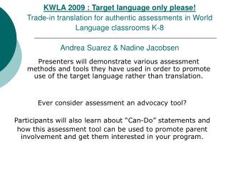Ever consider assessment an advocacy tool?