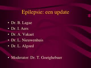 Epilepsie: een update
