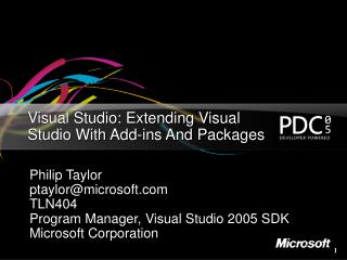 Visual Studio: Extending Visual Studio With Add-ins And Packages