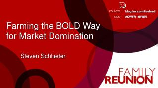Farming the BOLD Way  for Market Domination