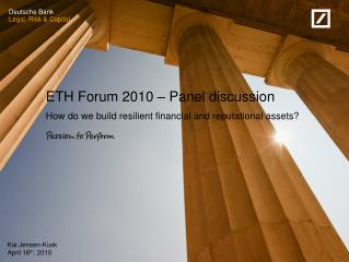 ETH Forum 2010 – Panel discussion