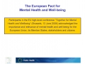 The European Pact for  Mental Health and Well-being