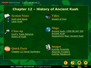 Chapter 12 – History of Ancient Kush