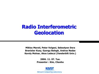 Radio Interferometric Geolocation