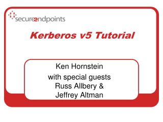 Kerberos v5 Tutorial