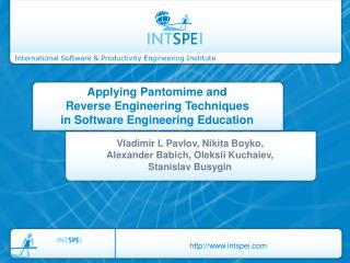 Applying Pantomime and Reverse Engineering Techniques in Software Engineering Education