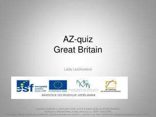 AZ- quiz Great  Britain