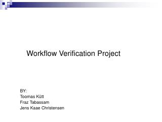 Workflow Verification Project
