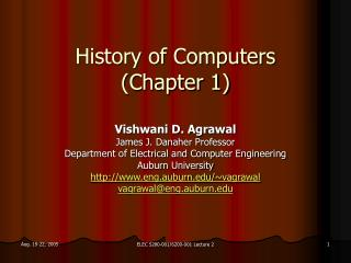 History of Computers (Chapter 1)