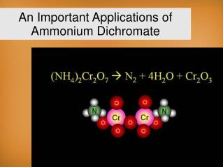 An Important Applications of Ammonium Dichromate