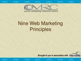 Nine Web Marketing Principles
