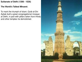 Sultanate of Delhi (1206 - 1526)