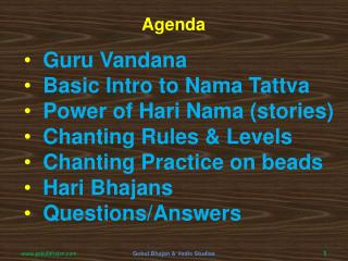 Guru Vandana   Basic Intro to Nama Tattva   Power of Hari Nama (stories)