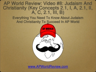 Everything You Need To Know About Judaism And Christianity To Succeed In AP World
