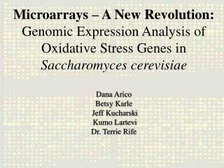 Microarray Background