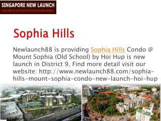 Sophia Hills Freehold New Launch Venue Residences in Singapo