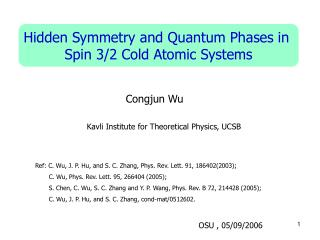 Hidden Symmetry and Quantum Phases in  Spin 3/2 Cold Atomic Systems