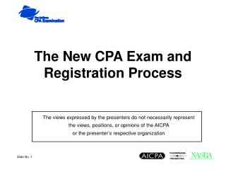 The New CPA Exam and Registration Process