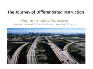 The Journey of Differentiated Instruction