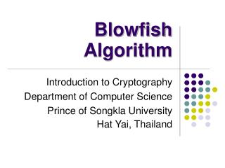 Blowfish Algorithm