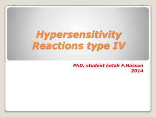 Hypersensitivity Reactions type  IV