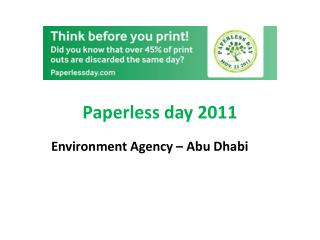 Paperless day 2011