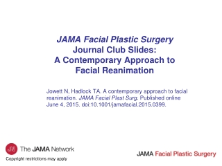 Facial Nerve Paralysis:  Management of the Eye