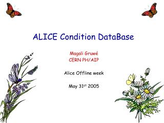 ALICE Condition DataBase