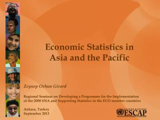 Economic Statistics in  Asia and the Pacific