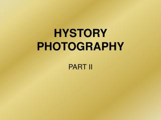 HYSTORY PHOTOGRAPHY