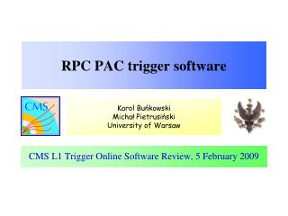 RPC PAC trigger software