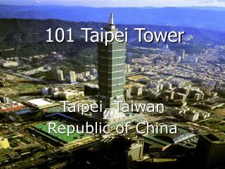 101 Taipei Tower